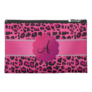 Monogram pink leopard pink scallop pink stripe travel accessory bags