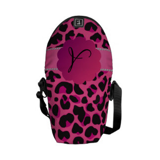 Monogram pink leopard pink scallop pink stripe courier bags