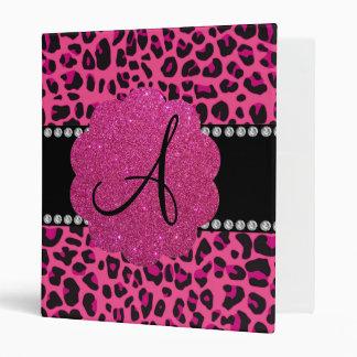 Monogram pink leopard vinyl binder
