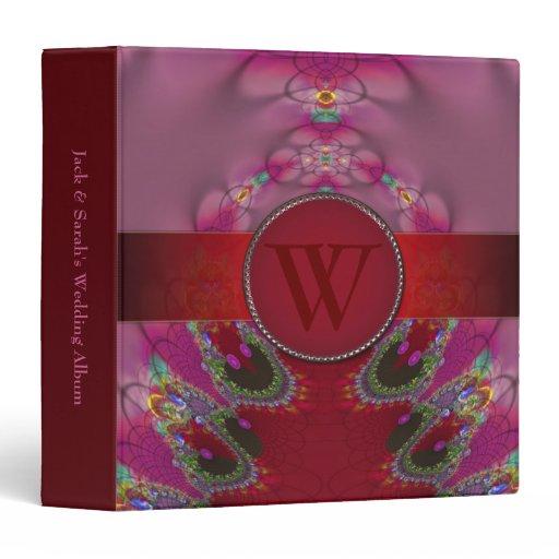 Monogram Pink Love Unity Wedding Album Binder
