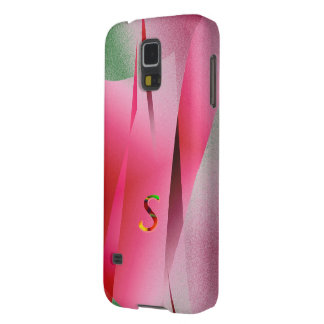 Monogram Pink over Green case for Galaxy S5