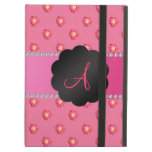 Monogram pink roses iPad cases