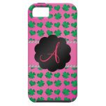 Monogram pink shamrocks and hearts iPhone 5 cover