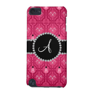 Monogram pink snowman trellis pattern iPod touch (5th generation) covers