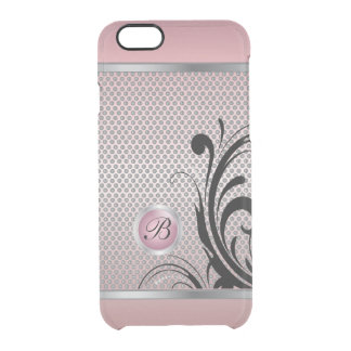 Monogram Pink Tourmaline Silver Mesh Clear iPhone 6/6S Case
