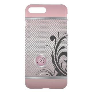 Monogram Pink Tourmaline Silver Mesh iPhone 7 Plus Case