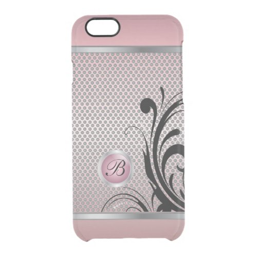 Monogram Pink Tourmaline Silver Mesh Phone Case
