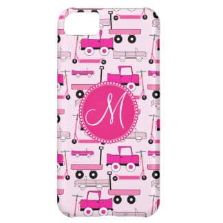 Monogram Pink Wheels Cars Trucks Scooters Wagons iPhone 5C Cover