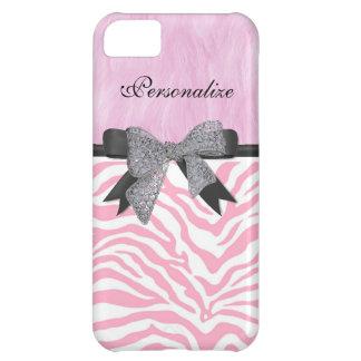Monogram, Pink Zebra Print, iPhone 5/5C Case Case For iPhone 5C