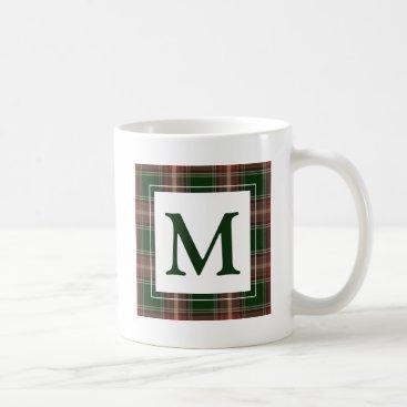 monogram_bouquet Monogram Plaid Coffee Mug