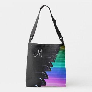 Monogram Play Piano Rainbow Music Tote Bag