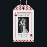 "Monogram Playing Card Wedding Collection Gift Tags<br><div class=""desc"">Celebrate in style with these stylish and very trendy wedding tags. The design is easy to personalize with your special event wording and your guests will be thrilled when they see these fabulous tags.</div>"