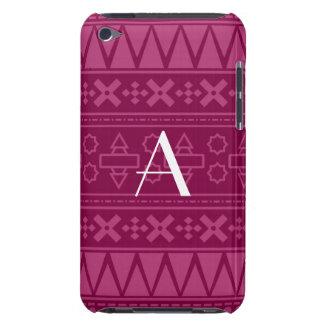 Monogram plum purple aztec pattern iPod Case-Mate case