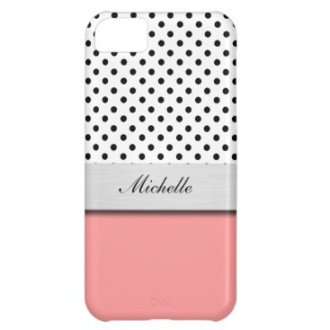 Professional Business Monogram Polka Dot iPhone 5C Case