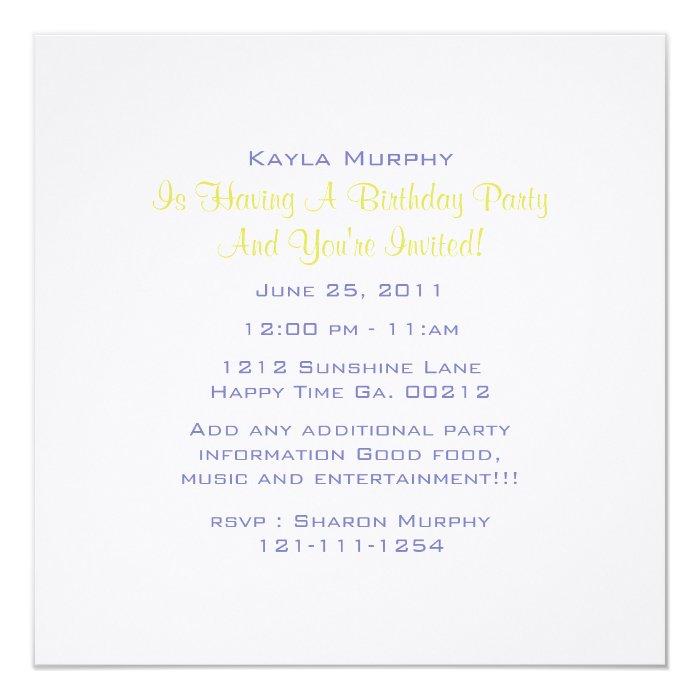 Monogram Polka Dot Party Invitations