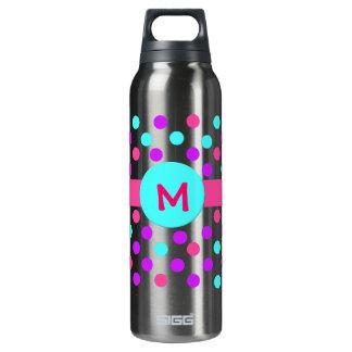 Monogram Polka Dot 16 Oz Insulated SIGG Thermos Water Bottle