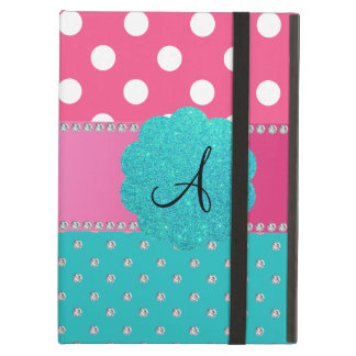 Monogram polka dots diamonds cover for iPad air