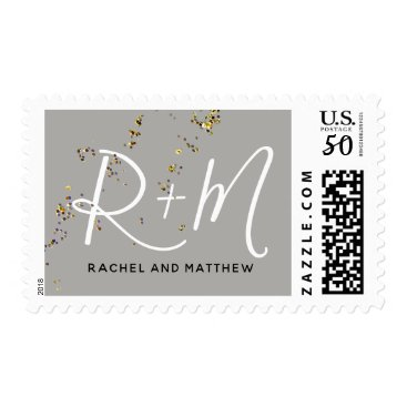Wedding Themed monogram postage