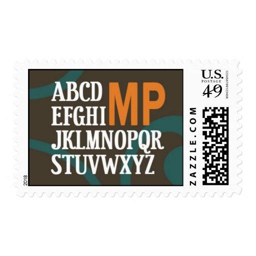 Monogram Postage (custom)