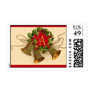 Monogram Postage for Holiday Cards Postage