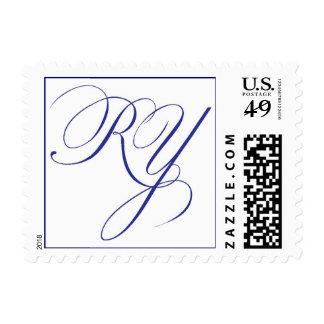 monogram postage stamp
