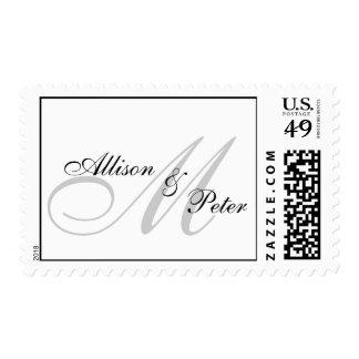 Monogram Postage Stamps for Weddings Bride Groom