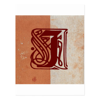monogram postcard
