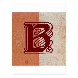 monogram post card