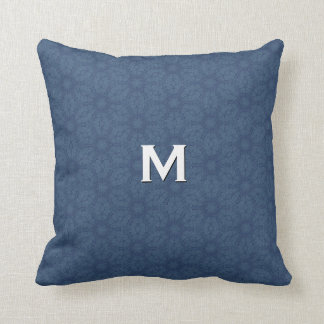Monogram Powder Blue Flower Pattern W1331 Pillow