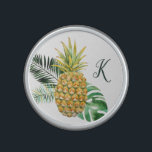 """Monogram Pretty Pineapple and Leaves Bluetooth Speaker<br><div class=""""desc"""">This pretty speaker features a watercolor painted pineapple,  along with leaves and a monogram template!</div>"""
