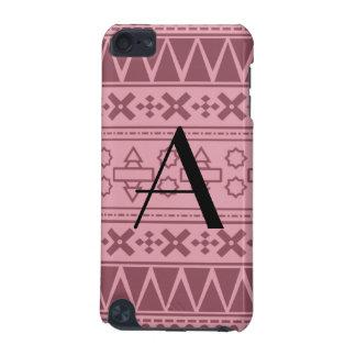 Monogram pretty pink aztec pattern iPod touch 5G case