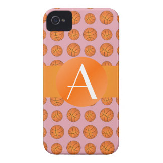 Monogram pretty pink basketballs iPhone 4 Case-Mate cases