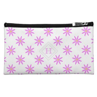 Monogram: Pretty Pink Daisy Bagettes Bag Makeup Bags