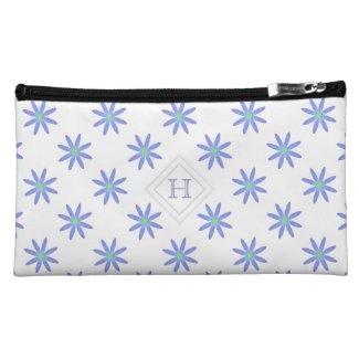 Monogram: Pretty Purple Daisy Bagettes Bag Cosmetic Bag