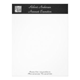 Monogram Professional Black & Sliver Letterhead