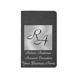 Monogram Professional Black & Sliver Pocket Journa Journal