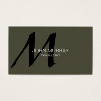 Monogram Professional Business card