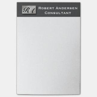 Monogram Professional Carbon Fiber Silver Post-it® Post-it® Notes