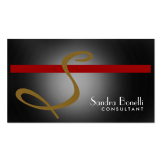 Monogram Professional Consultant Business Card