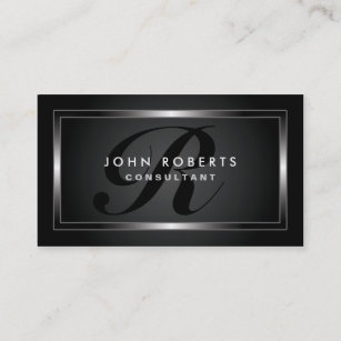 Black business cards templates zazzle monogram professional elegant modern black business card colourmoves