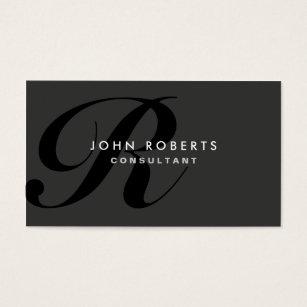 Monogram business cards 15700 monogram business card templates monogram professional elegant modern black business card colourmoves