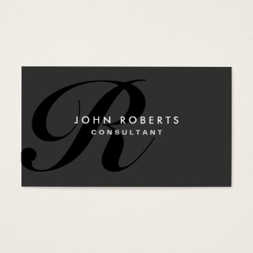 Lamborati Monogram Professional Elegant Modern Black Business Card