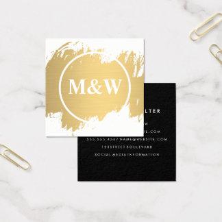 Monogram Professional Elegant Square Business Card