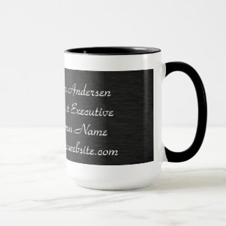 Monogram Professional Modern Black & Sliver Mugs