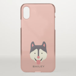 Uncommon iPhone X Clearly™ Deflector Case with Siberian Husky Phone Cases design