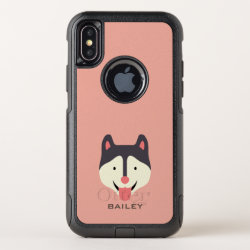 OtterBox Apple iPhone X Symmetry Case with Siberian Husky Phone Cases design