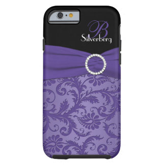 Monogram Purple and Black Damask iPhone 6 case Vib
