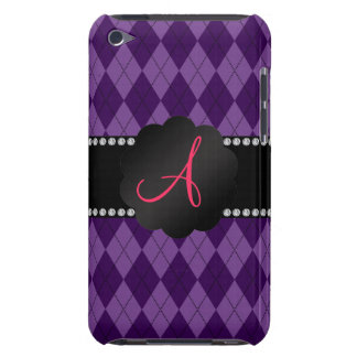 Monogram purple argyle barely there iPod cover