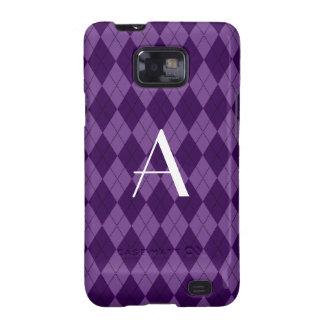 Monogram purple argyle galaxy s2 case