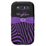 Monogram Purple, Black Glitter Zebra Galaxy S3 Samsung Galaxy S3 Cases